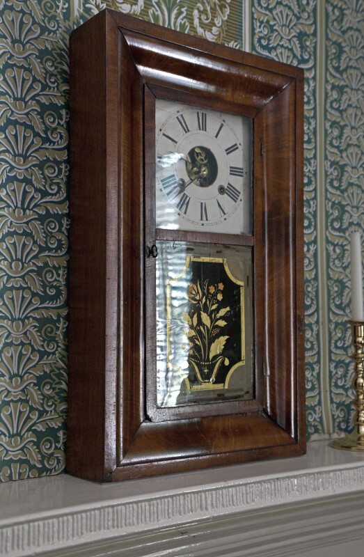 A Close-Up of the Mantel Clock