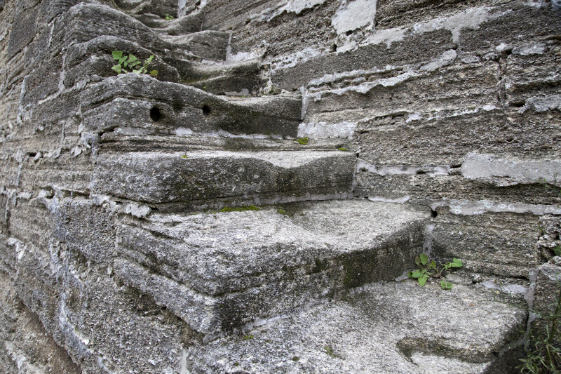 A Close-Up of the Moat Stairs