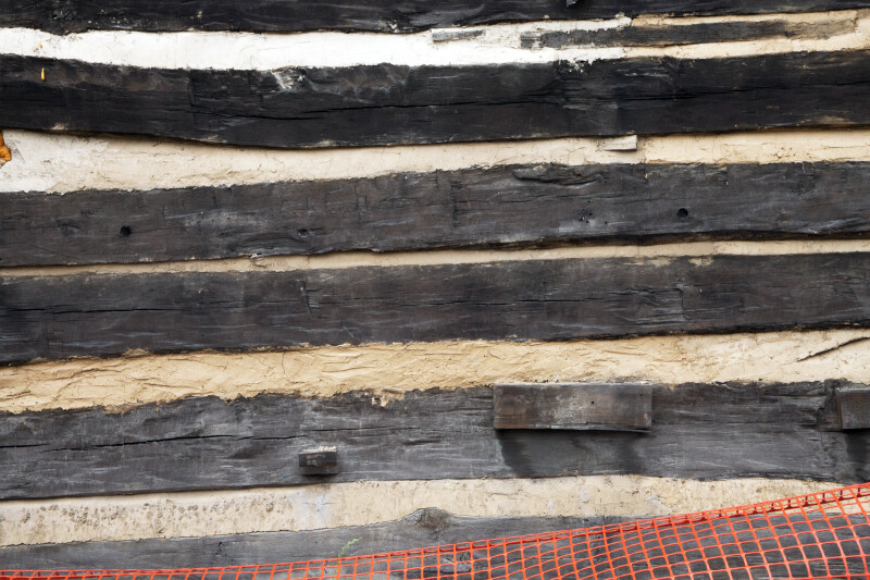 A Close-up of Timbers