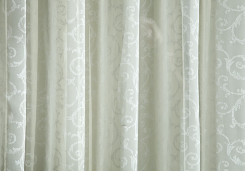 A Close-Up of White Drapes