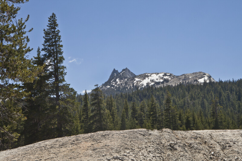 A Closer View of Cathedral Peak