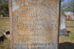 A Closer View of Dr. Gunn's Grave Marker