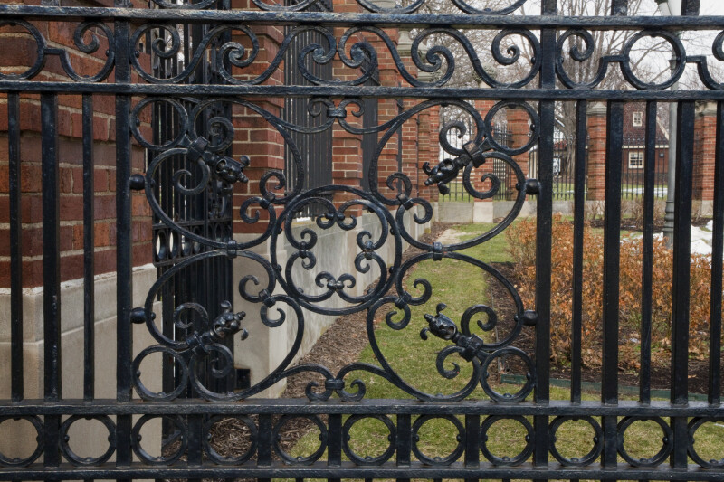 A Closer View of the Wrought Iron Fence