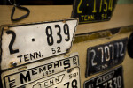 A Collection of Tennessee Automobile License Plates