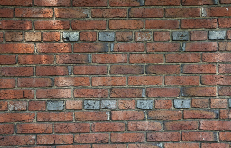 A Common Bond Brick Wall with Slightly More Weathered Bricks