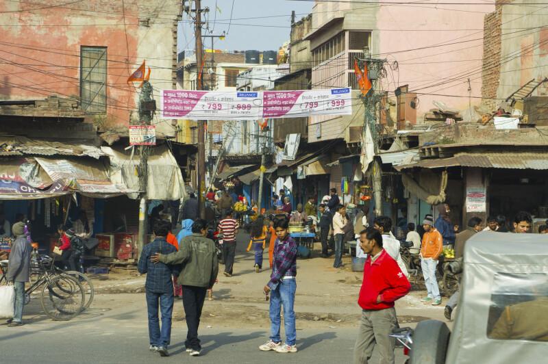 A Crowded Market Street
