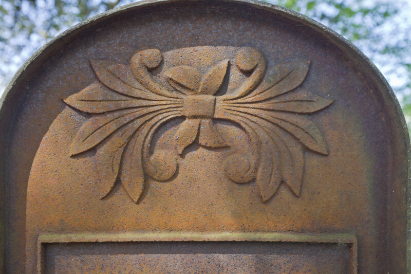 A Decorative Element on a Grave Marker