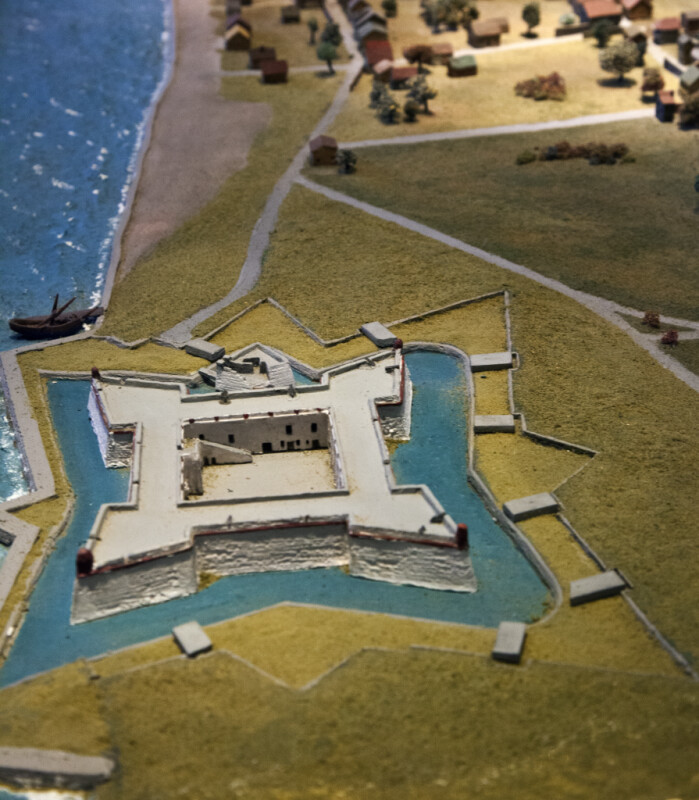 A Diorama of St. Augustine with Castillo de San Marcos