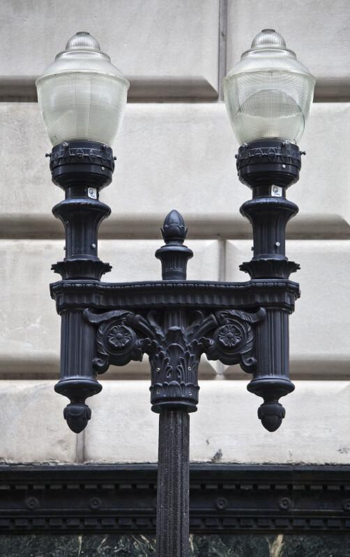 A Dual Lamp Streetlight