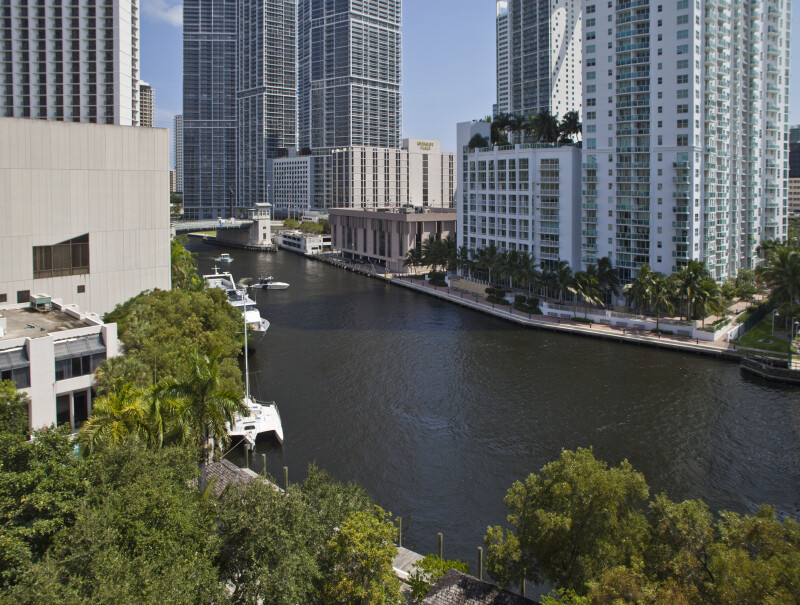 A Few Buildings along the Miami River