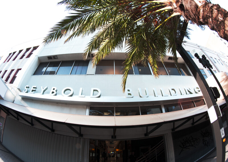 A Fish-Eye View of the Entrance to the Seybold Building