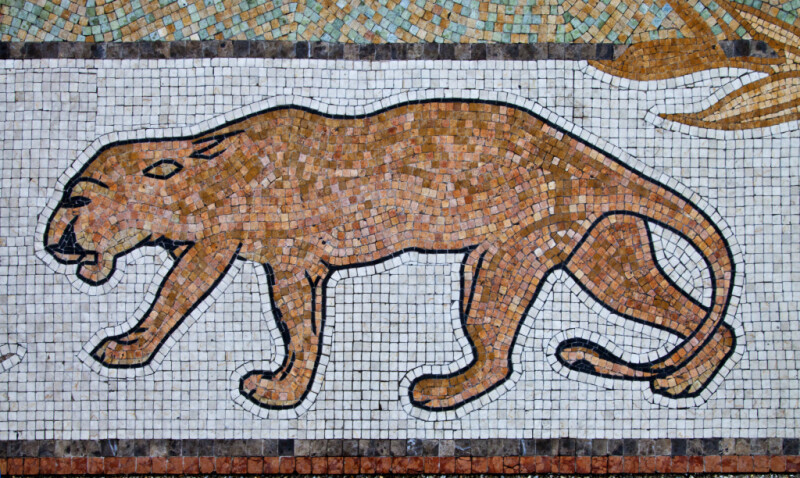 A Florida Panther in a Mosaic