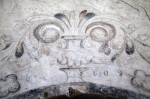 A Fresco Above the Baptistry Door at Mission Concepción