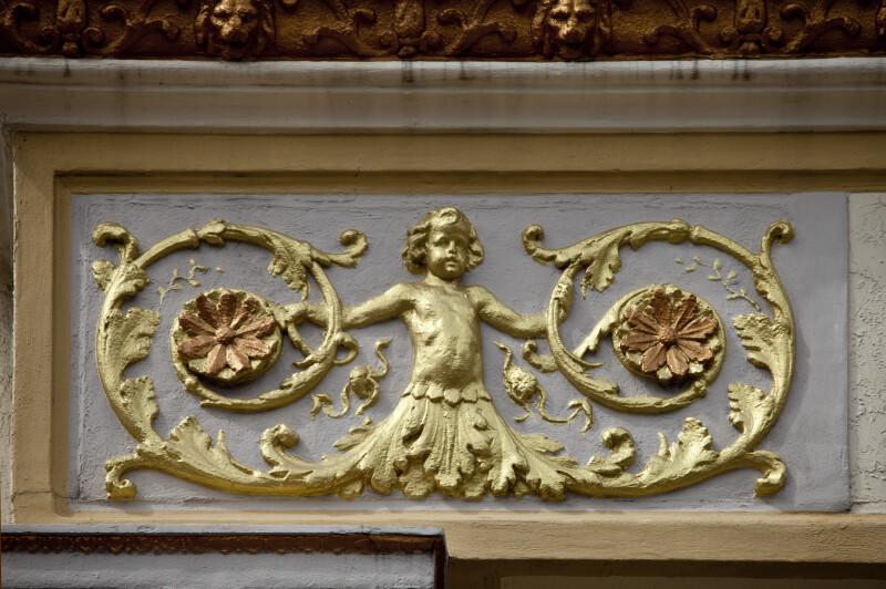 A Gold Building Decoration