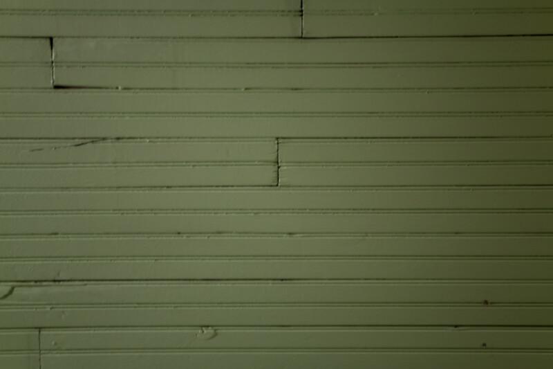 A Green, Painted Beadboard Wall