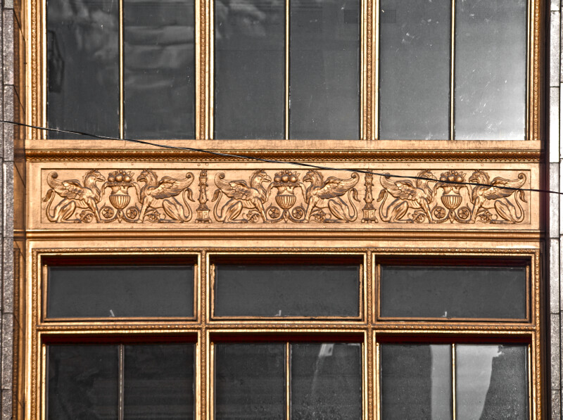 A Horizontal Spandrel Panel with Griffins