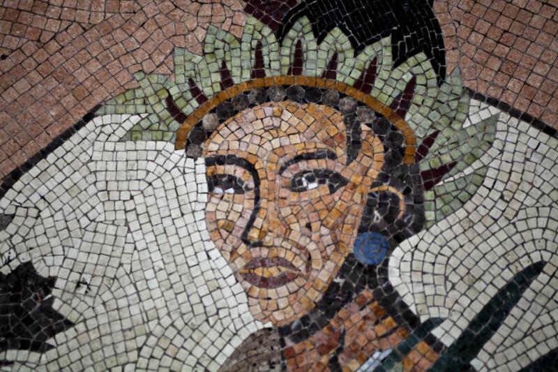 A Human Head in a Mosaic