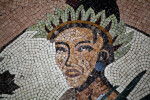 A Human Head in a Mosaic