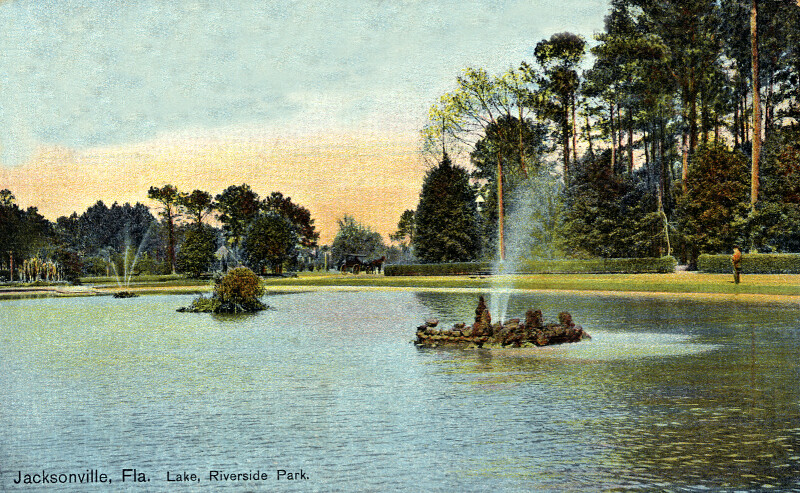 A Lake in Riverside Park, Jacksonville, Florida