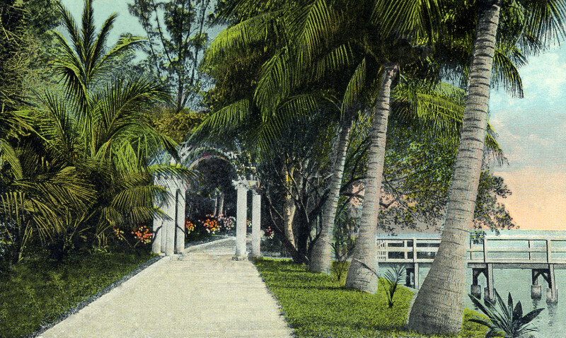 A Lake Trail in Palm Beach, Florida
