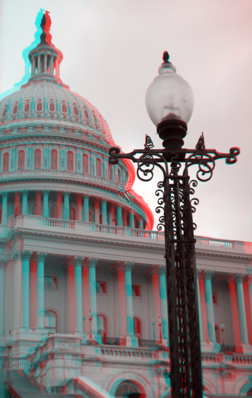 A Lamp on the West Side of the United States Capitol
