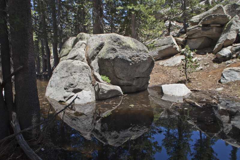 A Large Boulder near the Water
