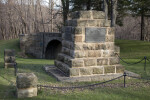 A Large, Sandstone Monument, with Metal Plaque (road side)