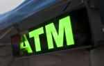 A Lighted ATM Sign