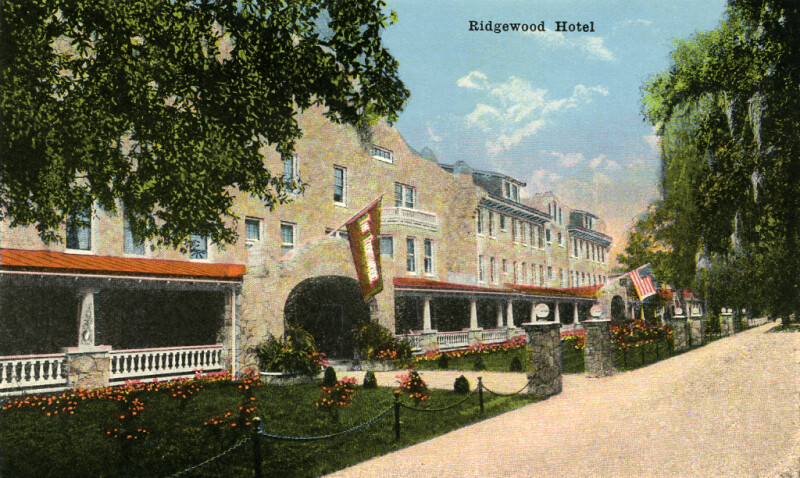 A Look at the Exterior of the Ridgewood Hotel