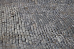 A Loosely-Packed Pavement of Angular Cut Stones