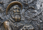 A Low Relief of John Muir's Face