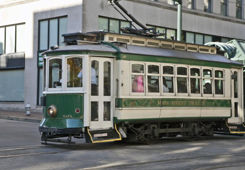 A Main Street Trolley Streetcar