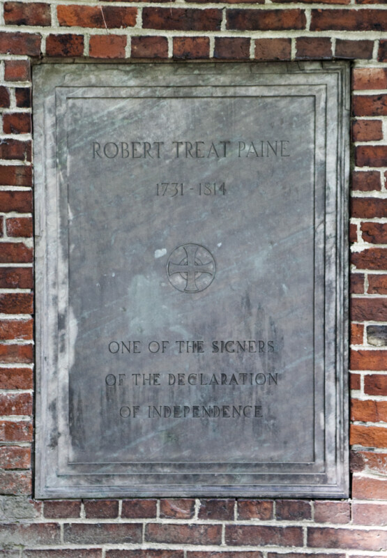 A Marker for Robert Treat Paine