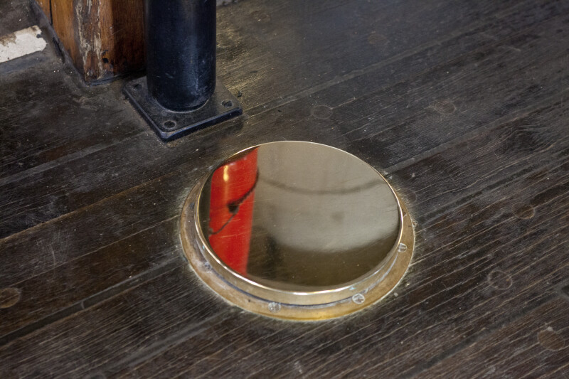 A Metal Collar around a Hole in the Deck