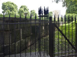 A Metal Fence near Tombs