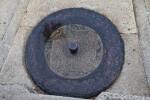A Metal Pin in a Stone Block
