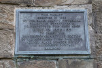 A Metal Plaque for the Skew Arch Bridge