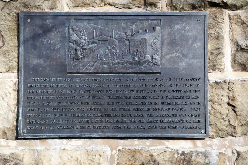 A Metal Plaque Showing the Lemon House and Engine House Number Six