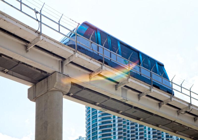 A Miami Metromover Car