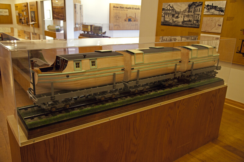 A Model in a Display Case