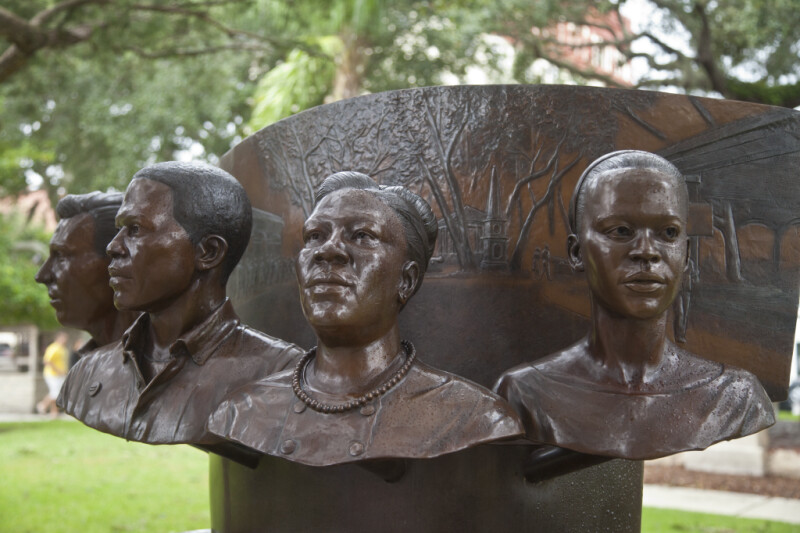 A Monument to People Involved in the Civil Rights Movement