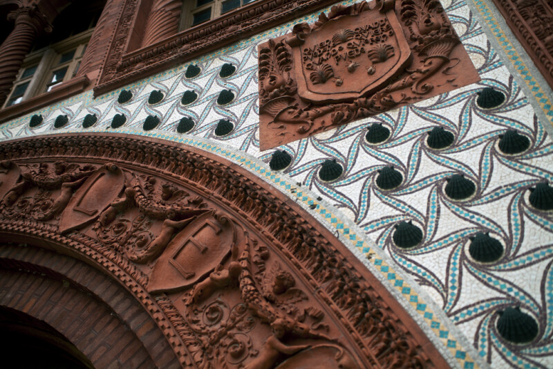 A Mosaic with Shell Adornments