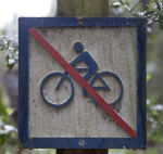 A No Bike Riding Sign