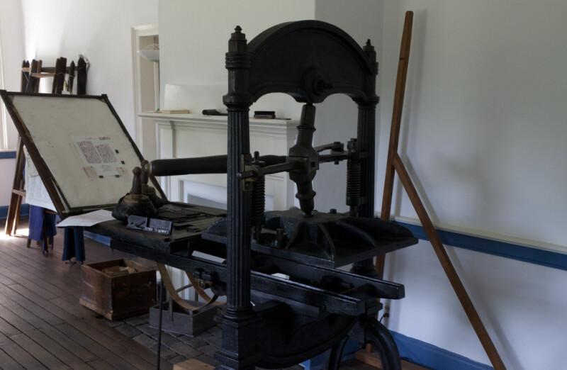 A Page on the Tympan of a Washington Printing Press
