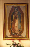 A Painting of Mary in the Sacristy of Mission Concepción