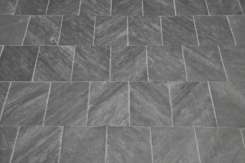 A Pavement of Dark Gray Stone Tiles