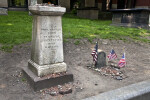 A Pedestal Monument and a Headstone for Paul Revere