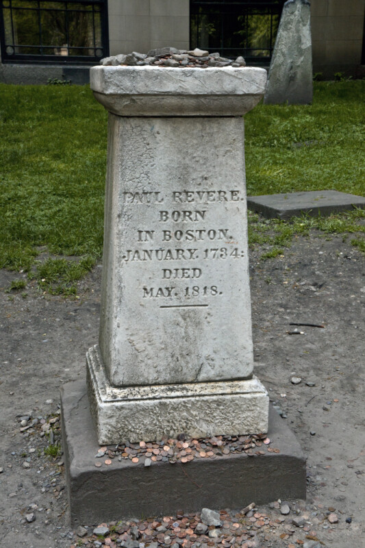 A Pedestal Monument for Paul Revere