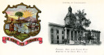 A Picture of the Capitol Building in Tallahassee, Florida and An Illustration of the State Seal