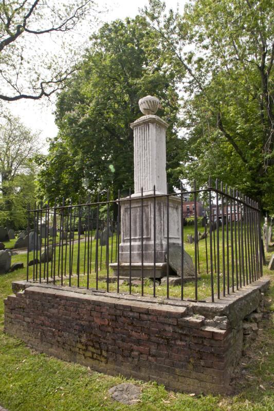 A Pilaster Column Grave Marker